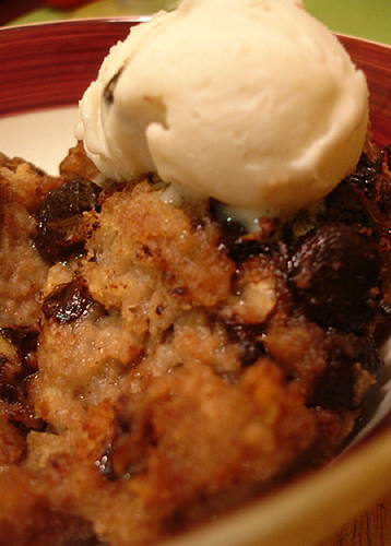 Banana Chocolate Chip Bread Pudding